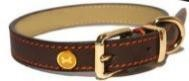BROWN LEATHER COLLAR M