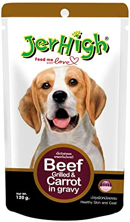 Jerhigh Beef grilled and carrot in gravy pouch (120G)