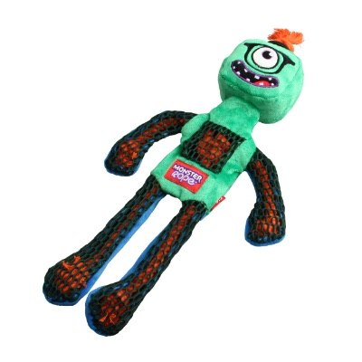 Gigwi Green Monster Rope Squeaker M/L Size Plush