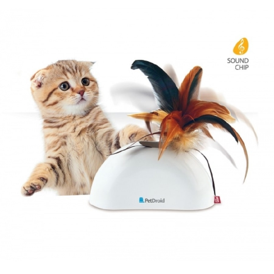 Gigwi Feather Hider Pet Droid with Sound & Motion System