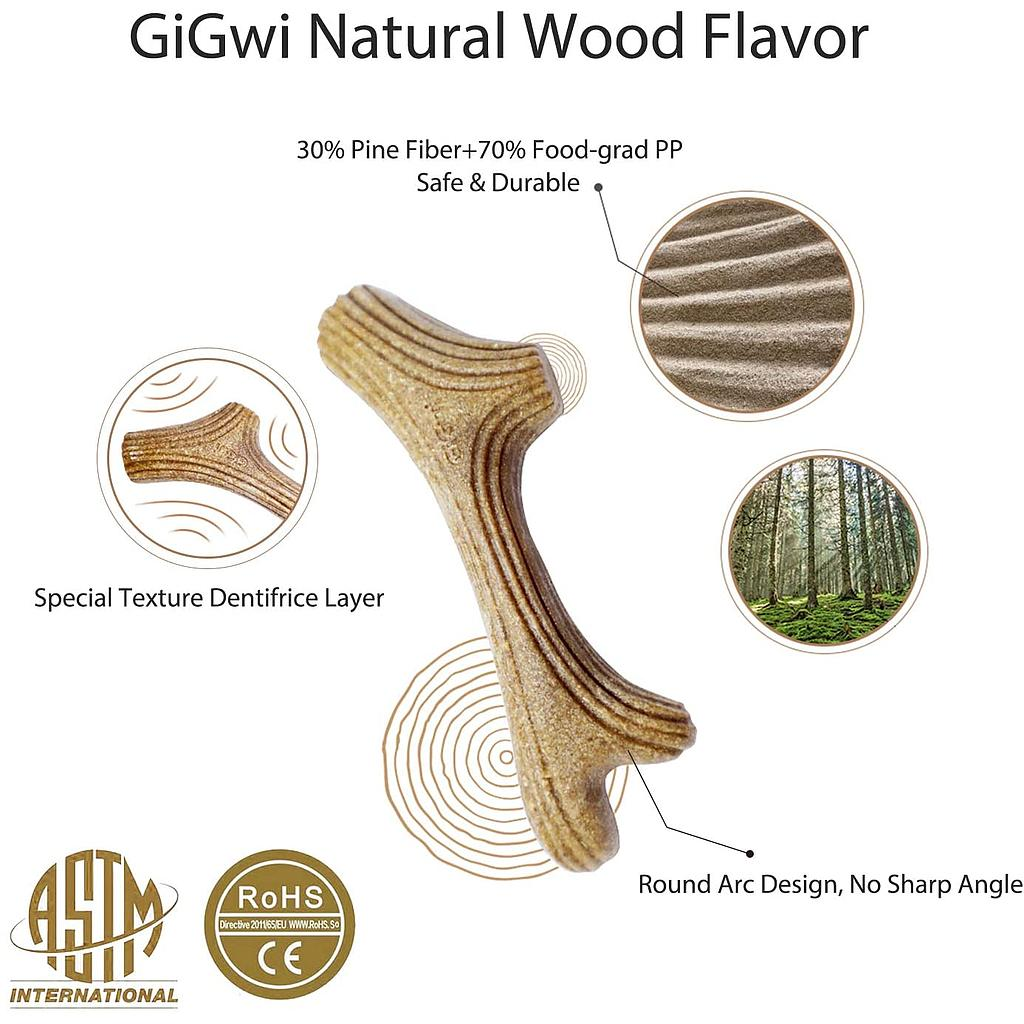 Gigwi Dog Chew Wooden Antler L