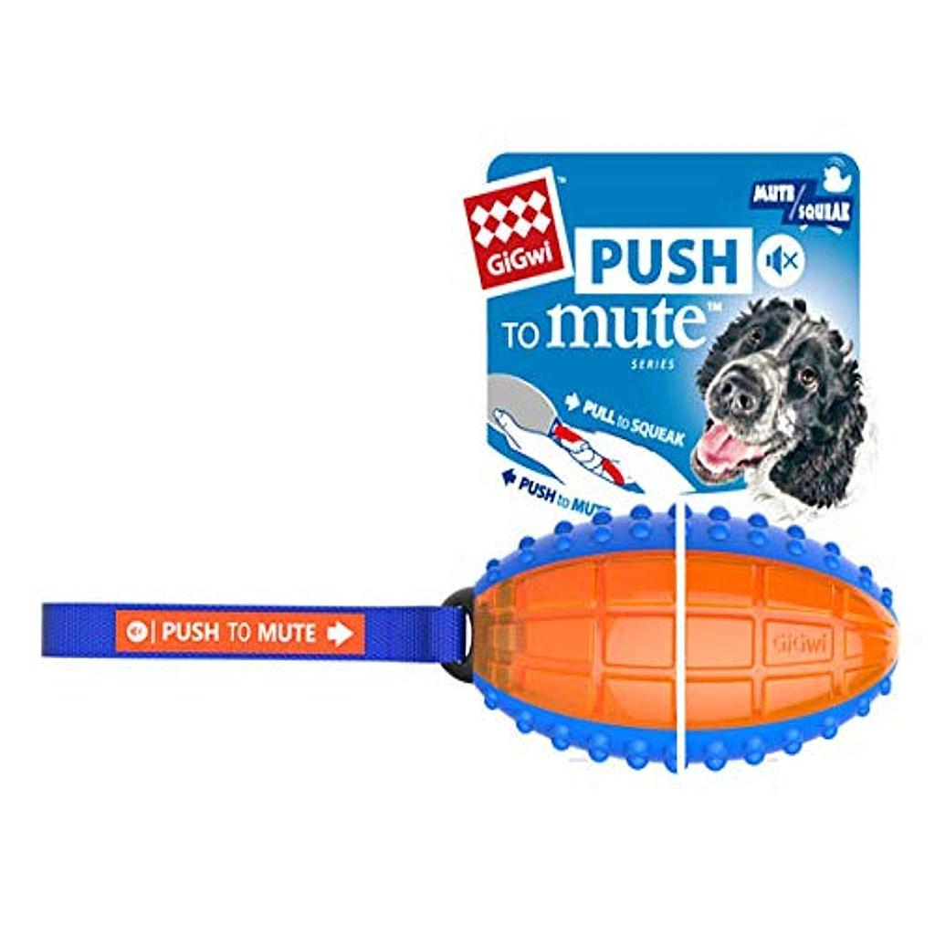 Gigwi Rugby Ball Plush with Blue mix orange
